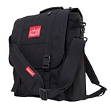 Manhattan Portage Commuter Laptop Bag with Back Zipper Black (1417Z BLK)