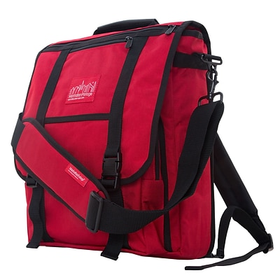 Manhattan Portage Commuter Laptop Bag with Back Zipper Red (1417Z RED)