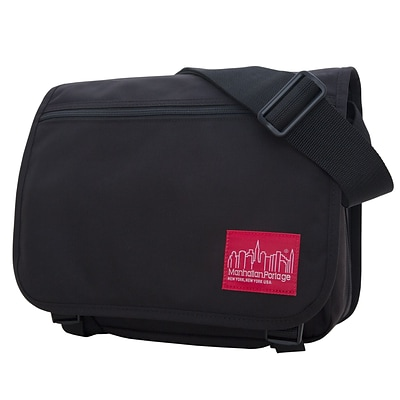 Manhattan Portage Europa Small with Back Zipper And Compartments Black (1435Z-C BLK)