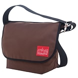 Manhattan Portage Vintage Messenger Bag Medium Dark Brown (1606V DBR)