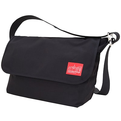 Manhattan Portage Vintage Messenger Bag Large Black (1607V BLK)