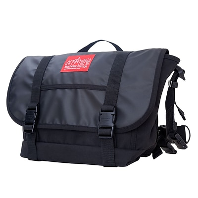 Manhattan Portage Ny Minute Messenger Bag Medium Black (1624 BLK)