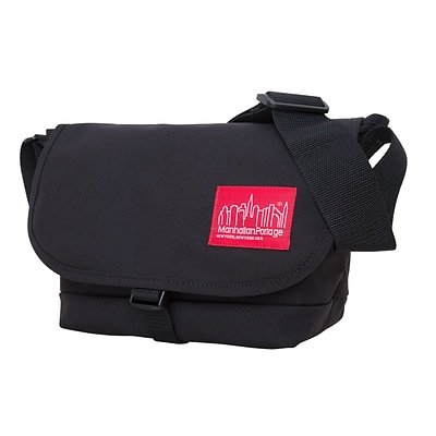 Manhattan Portage Straphanger Messenger Bag Small Black (1645 BLK)