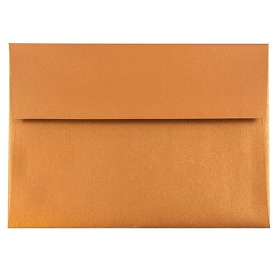 JAM Paper® A8 Invitation Envelopes - 5 1/2x 8 1/8 - Star dream Metallic Copper - 1000/carton