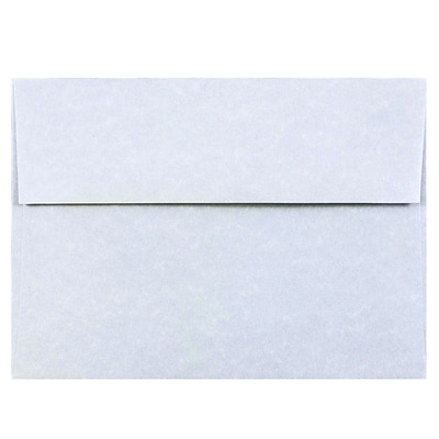 JAM Paper® A7 Invitation Envelopes, 5.25 x 7.25, Parchment Blue Recycled, 250/box (10379H)