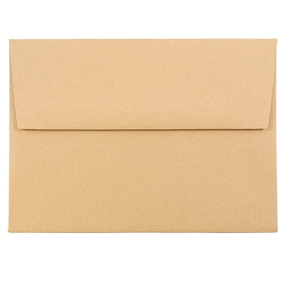 JAM Paper® A6 Passport Invitation Envelopes, 4.75 x 6.5, Ginger Brown Recycled, 50/Pack (11179I)