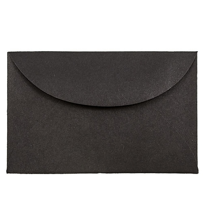 JAM Paper® 3drug Mini Small Envelopes, 2 5/16 x 3 5/8, Black Linen Recycled, 100/pack (13238A)