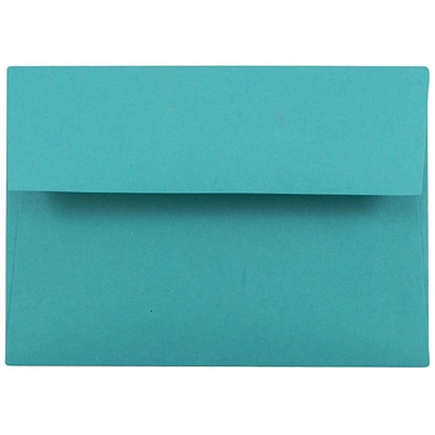 JAM Paper® 4Bar A1 Colored Invitation Envelopes, 3.625 x 5.125, Sea Blue Recycled, 25/Pack (15794)