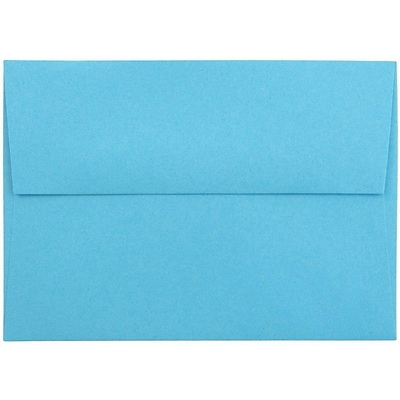 JAM Paper® 4bar A1 Envelopes, 3 5/8 x 5 1/8, Brite Hue Blue Recycled, 50/pack (15805I)