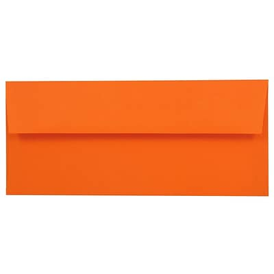 JAM Paper® #10 Business Envelope - 4 1/8 x 9 1/2 - Brite Hue Orange - 50/pack