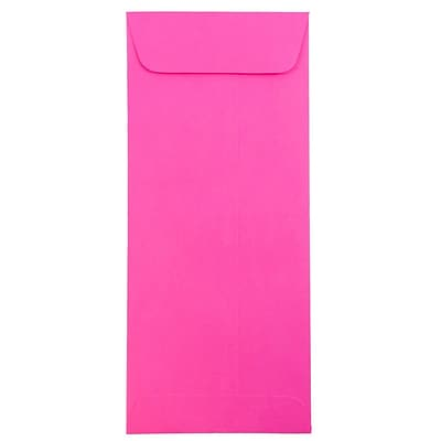 JAM Paper® #10 Policy Envelopes, 4 1/8 x 9 1/2, Brite Hue Ultra Fuchsia Pink, 500/box (15865H)