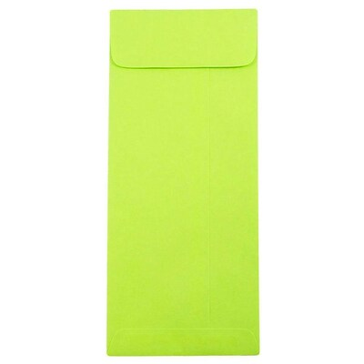JAM Paper® #10 Policy Envelopes, 4 1/8 x 9 1/2, Brite Hue Ultra Lime Green, 1000/carton (15870B)