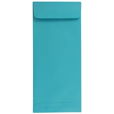 JAM Paper® #14 Policy Envelopes, 5 x 11.5, Brite Hue Sea Blue, 500/box (3156406H)
