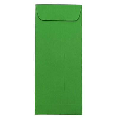 JAM Paper® #10 Policy Envelopes, 4 1/8 x 9 1/2, Brite Hue Green Recycled, 500/box (15884H)