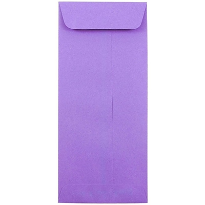 JAM Paper® #10 Policy Envelopes, 4 1/8 x 9 1/2, Brite Hue Violet Purple Recycled, 50/pack (15886I)