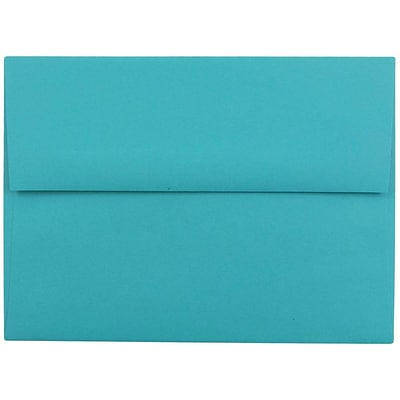 JAM Paper® A6 Invitation Envelopes, 4.75 x 6.5, Brite Hue Sea Blue Recycled, 250/box (15903H)