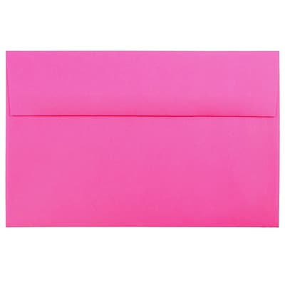 JAM Paper® A10 Invitation Envelopes, 6 x 9.5, Brite Hue Ultra Fuchsia Pink, 50/pack (16577I)