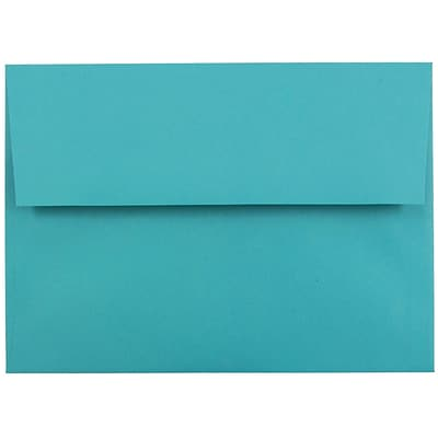 JAM Paper® A7 Invitation Envelopes, 5.25 x 7.25, Brite Hue Sea Blue Recycled, 25/pack (27785)