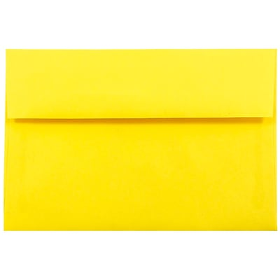 JAM Paper® A10 Invitation Envelopes, 6 x 9.5, Brite Hue Yellow Recycled, 250/box (28038H)