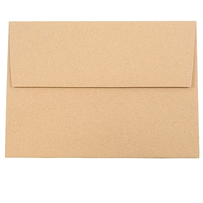 JAM Paper® A7 Invitation Envelopes, 5.25 x 7.25, Ginger Brown Recycled, 250/box (34856H)