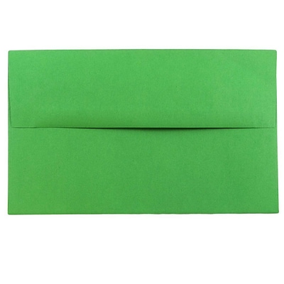 JAM Paper® A10 Invitation Envelopes, 6 x 9.5, Brite Hue Green Recycled, 50/pack (35633I)