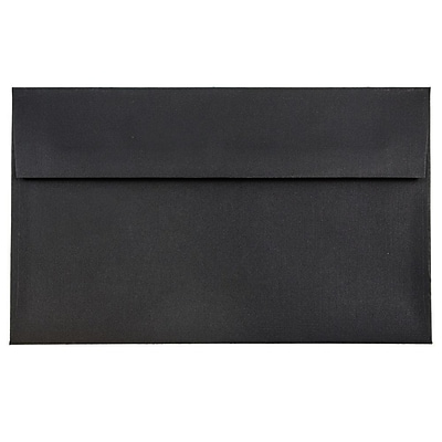 JAM Paper® A9 Invitation Envelopes, 5.75 x 8.75, Black Linen Recycled, 250/box (900906807H)