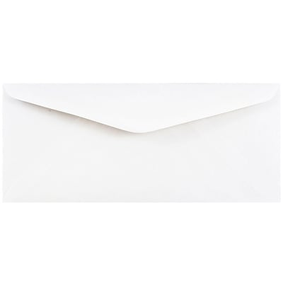 JAM Paper® #11 Business Commercial Envelopes, 4 1/2 x 10 3/8, White, 1000/carton (45179B)