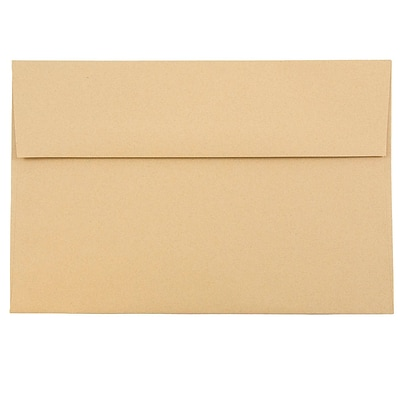 JAM Paper® A8 Invitation Envelopes, 5.5 x 8.125, Ginger Brown Recycled, 50/pack (49355I)