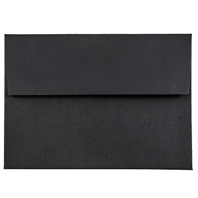 JAM Paper® A6 Invitation Envelopes, 4.75 x 6.5, Black Linen Recycled , 250/box (68999H)