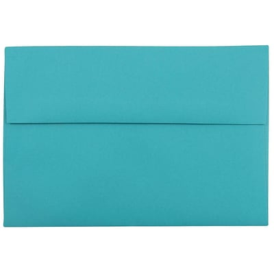 JAM Paper® A8 Invitation Envelopes, 5.5 x 8.125, Brite Hue Sea Blue Recycled, 250/box (70231H)