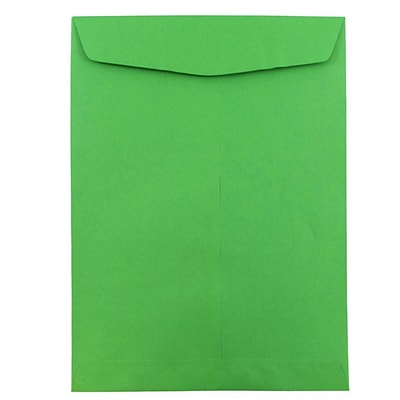 JAM Paper® 9 x 12 Open End Catalog Envelopes, Brite Hue Green Recycled, 10/pack (80402B)