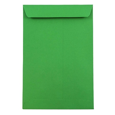 JAM Paper® 6 x 9 Open End Catalog Colored Envelopes, Green Recycled, 10/Pack (88103B)