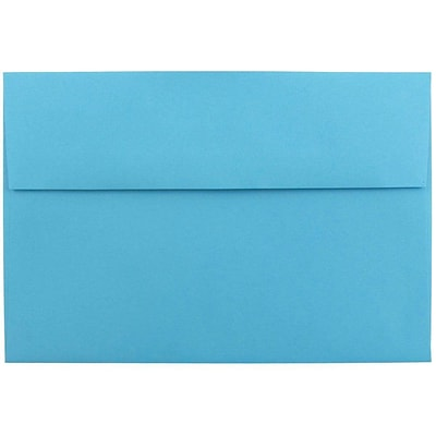 JAM Paper® A8 Invitation Envelopes, 5.5 x 8.125, Brite Hue Blue Recycled, 50/pack (95435I)