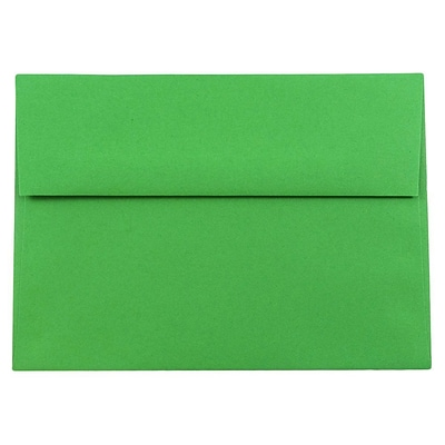 JAM Paper® A8 Invitation Envelopes, 5.5 x 8.125, Brite Hue Green Recycled, 250/box (95625H)