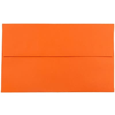 JAM Paper® A10 Invitation Envelopes, 6 x 9.5, Brite Hue Orange Recycled, 25/pack (95922)