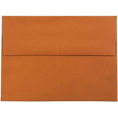 JAM Paper® A6 Invitation Envelopes, 4.75 x 6.5, Dark Orange, 1000/carton (157457B)