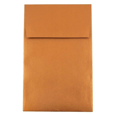 JAM Paper® A10 Policy Envelopes, 6 x 9.5, Stardream Metallic Copper, 50/pack (187021I)