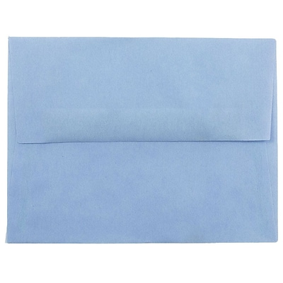 JAM Paper® A2 Invitation Envelopes, 4 3/8 x 5 3/4, Surf Blue Translucent Vellum, 50/pack (1591647I)