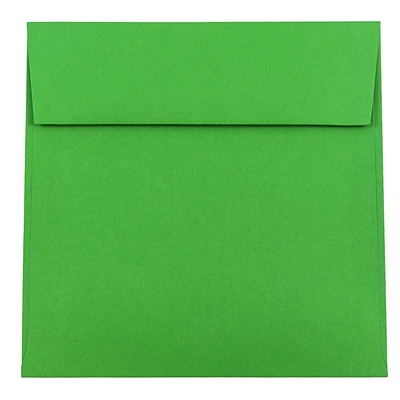 JAM Paper® 6.5 x 6.5 Square Envelopes, Brite Hue Green Recycled, 50/pack (2792279I)