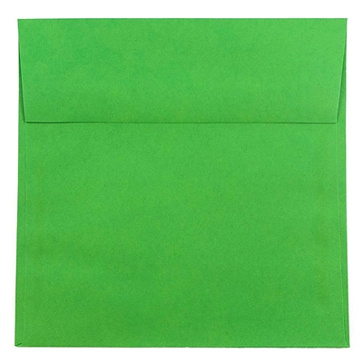 JAM Paper® 8.5 x 8.5 Square Envelopes, Brite Hue Christmas Green Recycled, 250/box (2792295H)