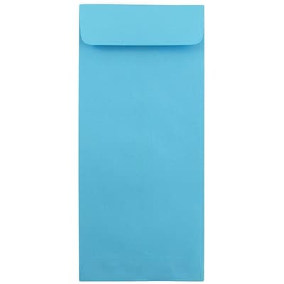 JAM Paper® #12 Policy Envelopes, 4.75 x 11, Brite Hue Blue Recycled, 25/pack (3156401)