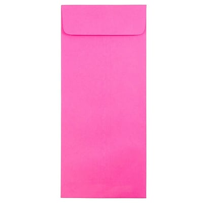 JAM Paper® #14 Policy Envelopes, 5 x 11.5, Brite Hue Ultra Fuchsia Pink, 25/pack (3156402)