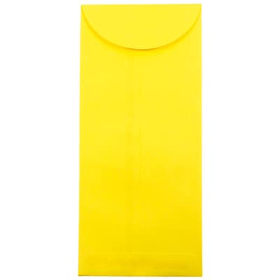 JAM Paper® #14 Policy Envelopes, 5 x 11.5, Brite Hue Yellow Recycled, 500/box (3156404H)