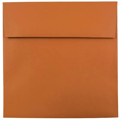 JAM Paper® 8.5 x 8.5 Square Envelopes, Dark Orange, 250/box (3157503H)