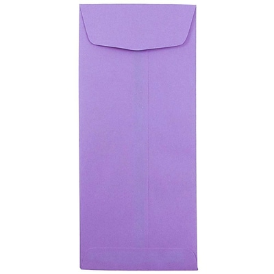 JAM Paper® #11 Policy Envelopes, 4 1/2 x 10 3/8, Brite Hue Violet Purple Recycled, 25/pack (4156909)