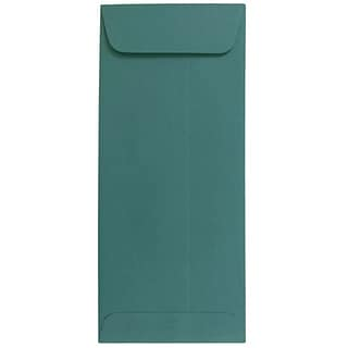 JAM Paper® #10 Policy Business Envelopes, 4.125 x 9.5, Teal, 50/Pack (21512995I)