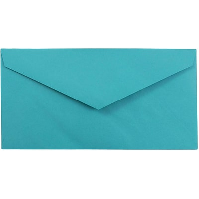 JAM Paper® Monarch Envelopes, 3 7/8 x 7 1/2, Brite Hue Sea Blue Recycled, 500/box (34097576H)