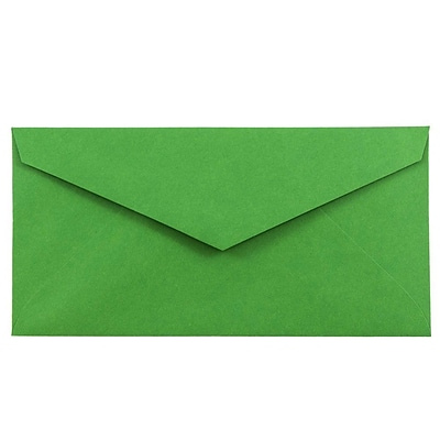JAM Paper® Monarch Envelopes, 3 7/8 x 7 1/2, Brite Hue Green Recycled, 1000/carton (34097582B)