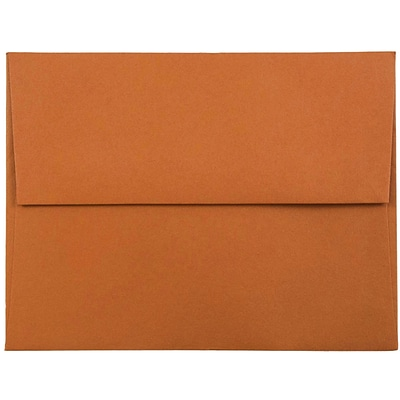 JAM Paper® A2 Invitation Envelopes, 4 3/8 x 5 3/4, Dark Orange, 50/pack (61511358I)