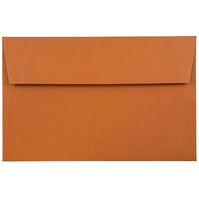 JAM Paper® A8 Invitation Envelopes, 5.5 x 8.125, Dark Orange, 50/pack (61511362I)
